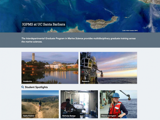Interdepartmental Graduate Program in Marine Science
